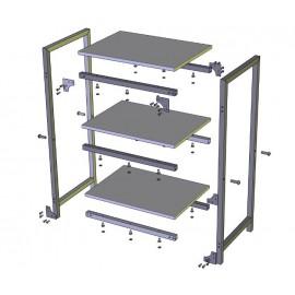 Стеллаж Квадро-3 Металл-Дизайн | Loft