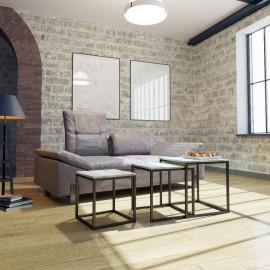 Стол журнальный Кубо 3 в 1 Металл-Дизайн | Loft