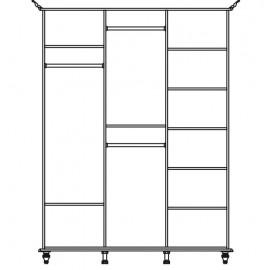 Шкаф для одежды 3D Сорренто Світ Меблів