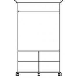 Шкаф платяной 2Д Лацио Світ Меблів