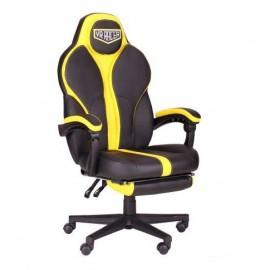 Кресло VR Racer Edge Throne черный/желтый (Релакс) АМФ 521343