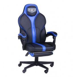 Кресло VR Racer Edge Titan черный/синий (Релакс) АМФ 521345