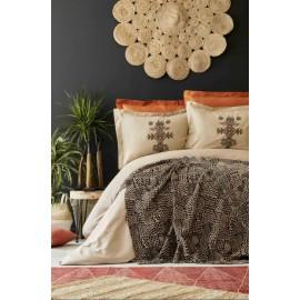 Набор постельное белье с пледом Aztec tarcin 2019-1 Karaca Home