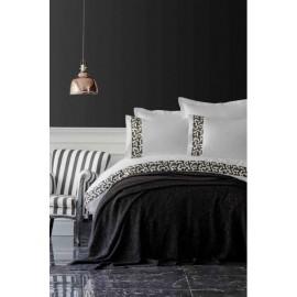 Набор постельное белье с пледом Blaze siyah 2019-1 черный Karaca Home