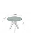 Обеденный стол Свен-3 (80) Металл-Дизайн | Loft