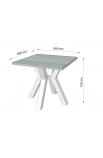 Обеденный стол Свен-4 (80) Металл-Дизайн | Loft