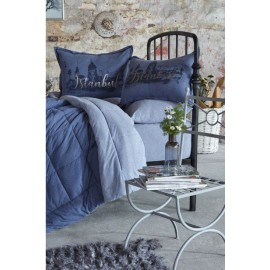 Набор постельное белье с одеялом Istanbul indigo 2019-2 индиго Karaca Home