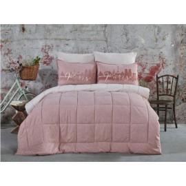 Набор постельное белье с одеялом Paris pudra 2019-2 пудра Karaca Home