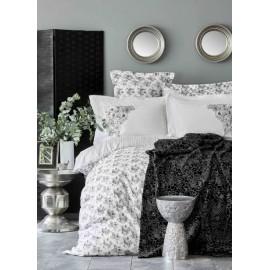 Набор постельное белье с пледом Brave silver 2020-1 серебро Karaca Home