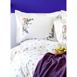 Набор постельное белье с пледом Fertile lila 2020-1 лиловый Karaca Home