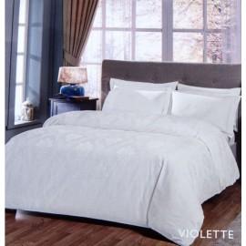 Постельное белье Violette beyaz белый (сатин жаккард) TAC