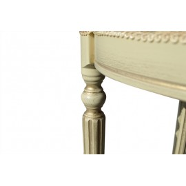Пуф Сицилия слоновая кость + патина Микс Мебель