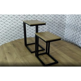 Комплект столиков Кофе Брейк 2 в 1 (55 см + 40 см) Металл-Дизайн | Loft