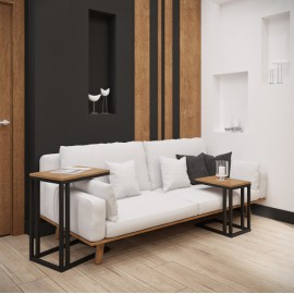 Комплект столиков Кофе Брейк 2 в 1 (60 см + 45 см) Металл-Дизайн | Loft