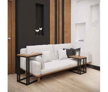 Комплект столиков Кофе Брейк 2 в 1 (65 см + 50 см) Металл-Дизайн   Loft