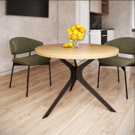 Обеденный стол Хард  Ø100 Металл-Дизайн | Loft