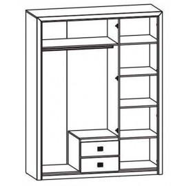 Шкаф платяной SZF 3D2S Коен Гербор