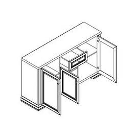 Комод 3D1S Соната (Каштан) Гербор