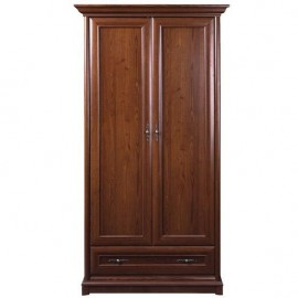 Шкаф платяной 2D1S Соната (Каштан) Гербор